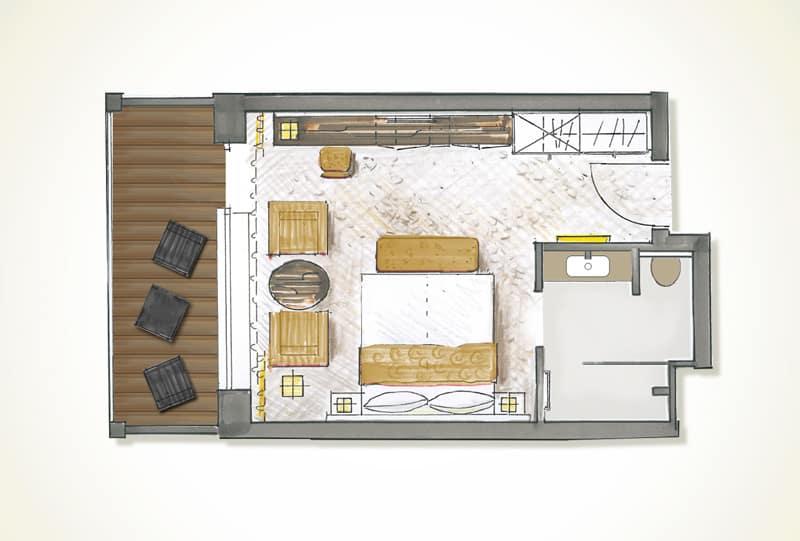BAYSIDE-Zimmer-DeLuxe-Grundriss