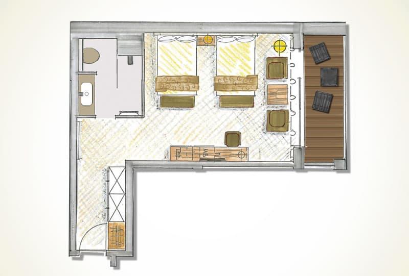 Grundriss Junior Suite