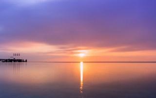 Morgensonne am Strand von Scharbeutz