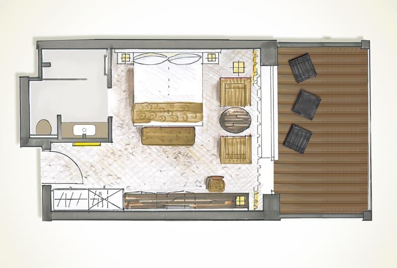 Grunsriss Grand De Luxe Zimmer Terrace
